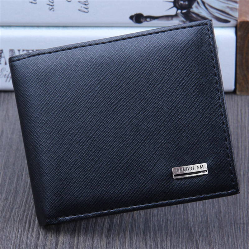 Men Bifold Business Leather Wallet  ID Credit Card Holder Purse Men's Wallet Clutch Portfel Cuzdan Billetera Carteira 40MA14