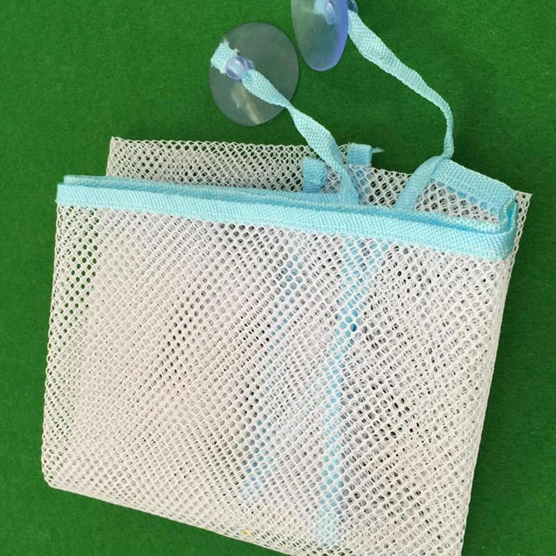 Roupa suja cesta de malha crianças do agregado familiar banheira de bebê pendurado organizador saco de armazenamento de brinquedos dobrável net para o banheiro