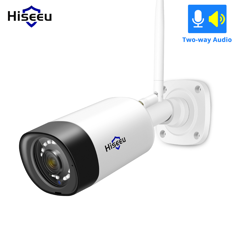 Hiseeu HD 1080P Wireless Outdoor Security Camera Weatherproof 2MP Bullet IP WiFi Outdoor Camera For Hiseeu CCTV Camera System