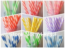 Kikklan Assorted 5 colors Swirly Drinking Straws 9 with ring, party vintage style, BPA free