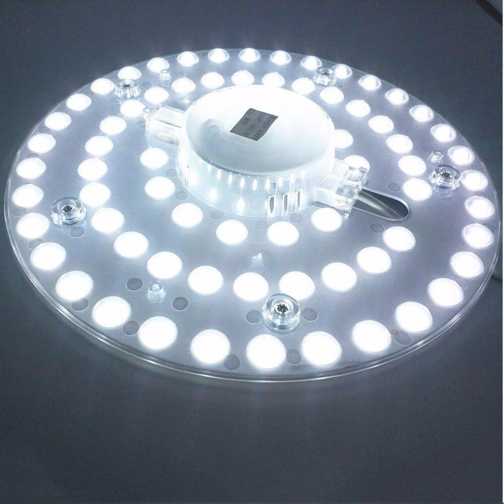Işıklar ve Aydınlatma'ten Gömme Işıklar'de 12 W 18 W 24 W 36 W LED Panel Downlight 5730SMD yüzeye monte LED luminares Sıcak Beyaz Doğa Beyaz saf Beyaz Lamba AC165 265V title=