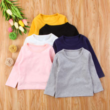 2017 Brand New Toddler Infant Child Kids Baby Boys Girls Cotton Warm Clothing T-shirt Tops Thermal underwear Brief Outwear 6M-5T