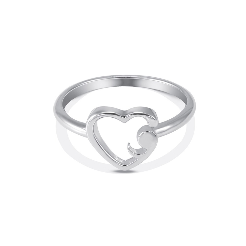 Handmade Silver Arrow Heart Semicolon Pendant Necklace