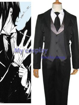 Anime Black Butler Cosplay - Black Butler Kuro Shitsuji men's Party Costume Cosplay Costume - Freeshipping