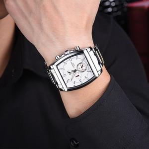 Image 5 - Longbo moda masculina assista topo da marca de luxo quadrado dial masculino relógio esportivo masculino aço inoxidável relogio masculino reloj hombre