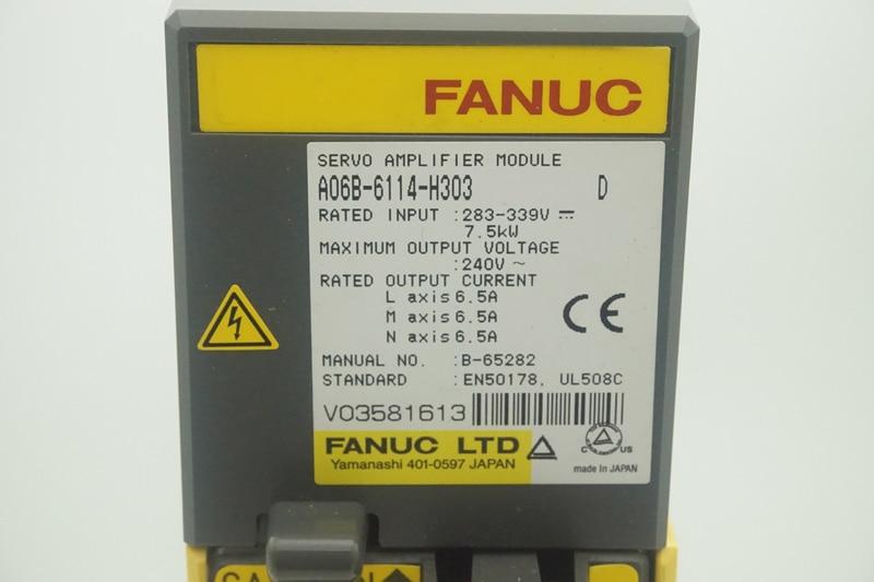 Motors & Parts Fanuc Servo Motor Driver Amplifier Alpha Isv 20/20/20 A06b-6114-h303 Motor Driver