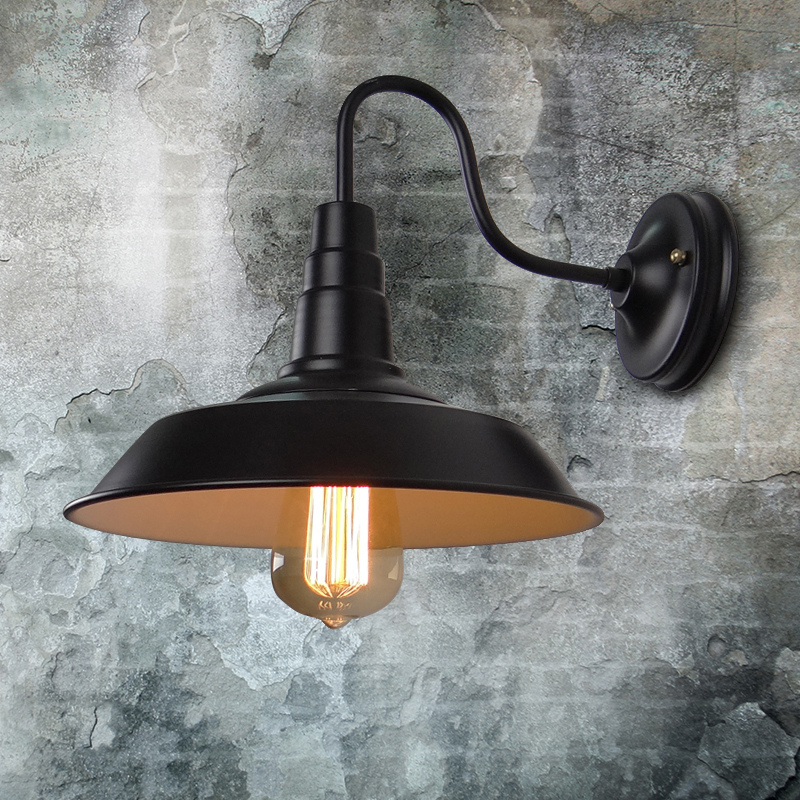 Loft american balcony industrial vintage iron edison wall sconce lamp old fashioned street lamp for restaurant bar home lighting