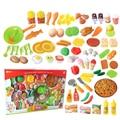 58 Unids Plastic Fruit Vegetable Cocina tabla de Cortar de Cocina de Juguete Juguete de Desarrollo y Educación Tempranos para Niños El Mejor Regalo de Navidad