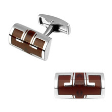 Men's shirts Cufflinks high-quality copper material Red enamel Cufflinks 2 pairs of packaging for sale