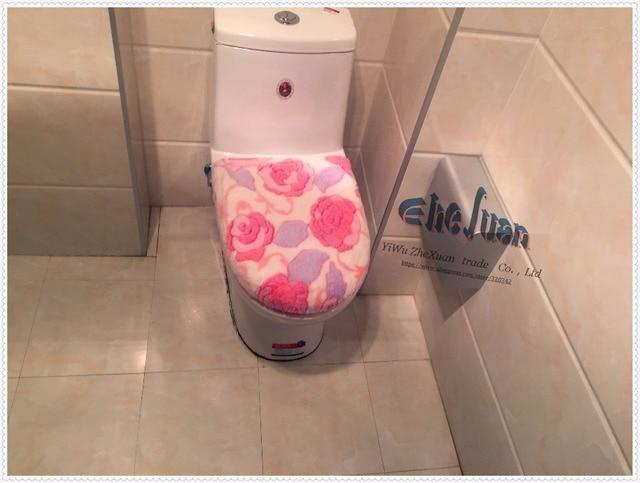 2 stks/set UITVERKOOP Badkamer Comfortabele roze hart toiletbril ...