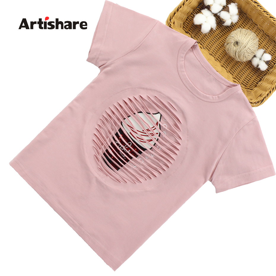 Artishare T-Shirt Teenage Girls Summer Fashion Child Cartoon for 8 12-14-Year 6 10 title=
