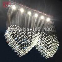 New Romantic K9 Crystal Chandelier Lamp modern Lighting with 6 lights