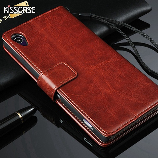 KISSCASE Z2 Wallet Case Luxury PU Leather Flip Cover For Sony Xperia Z2 Full Body Phone Pouch Capa For Sony Z2 L50 D6503 D6502