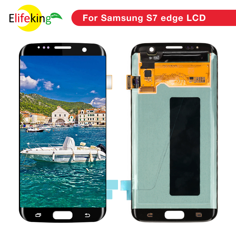 1 PCS 5.5 ''Super AMOLED Écran LCD de Remplacement pour Samsung Galaxy S7 G930 & S7 Bord G935 LCD Écran avec Digitizer Assemblée