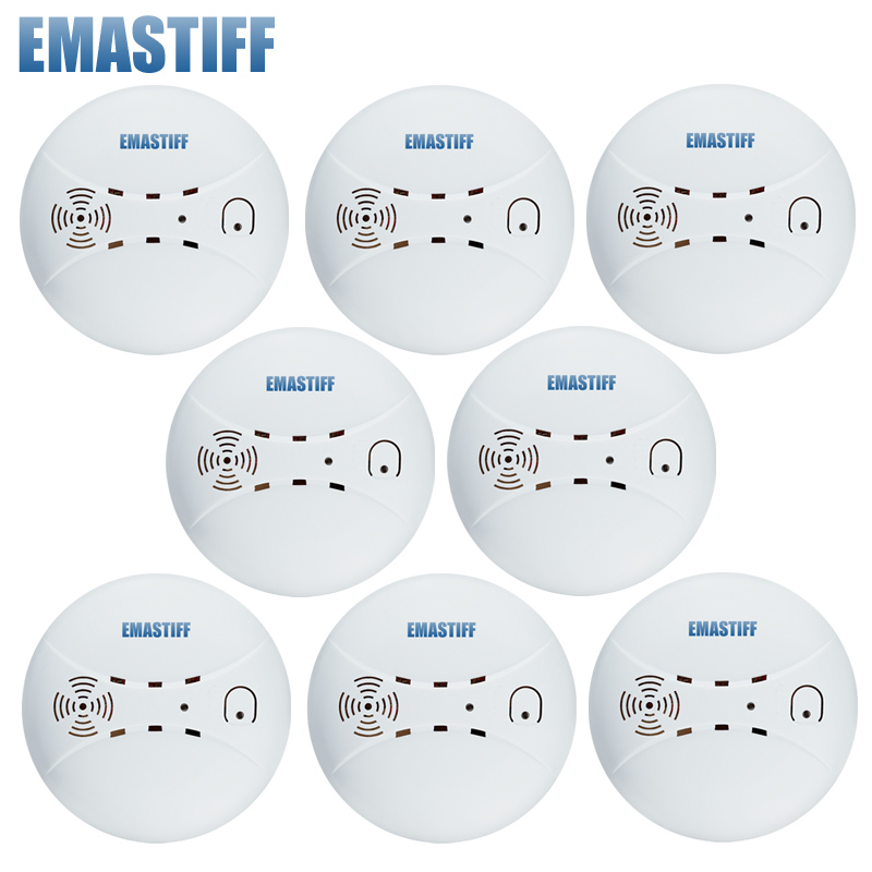 Free Shipping 433mhz Usage fire wireless Home Burglar Security Alarm FOR GSM alarm system NEW White