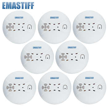 Free Shipping!433mhz Usage fire wireless Home Burglar Security Alarm FOR GSM alarm system NEW White 8pcs wireless smoke detector - DISCOUNT ITEM  5% OFF All Category