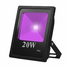 ANJOET UV LED Flood Light 20W High Power 220V Ultraviolet Floodlamp 110V AC IP66 waterproof for Curing