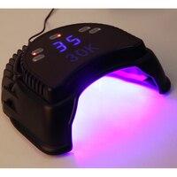 Профессиональный светодиодный лампы для ногтей с вентилятором 60 Вт Светодиодный УФ лампы для лечения Гель лак для ногтей сушилка с автомат