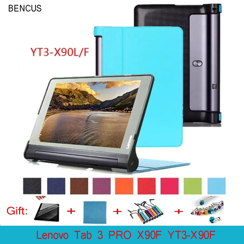 BENCUS 10 Pc/lot Custer Voltage Leather Case Magnetic Smart Case For 10.1 Inch Lenovo Tab 3 PRO X90F YT3-X90F Multi-Color