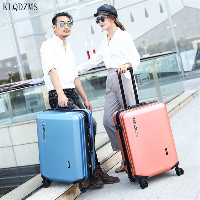 KLQDZMS 20/22/24/26inch PC Suitcase Rolling Luggage Business Travel Suitcase Carry on Spinner Wheel TSA lock women men