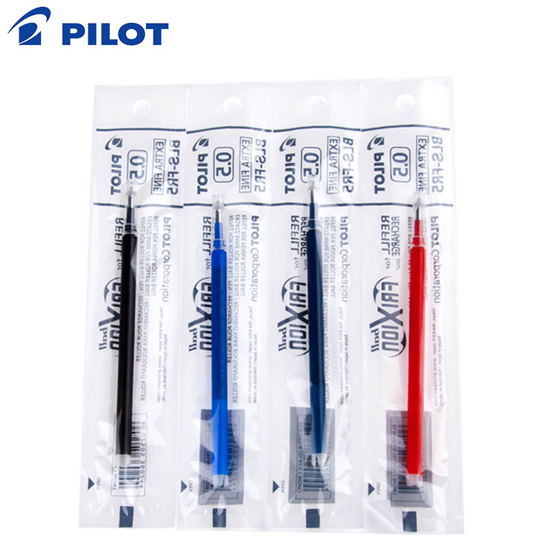 Pilot Frixion 3/6/9/12/unids 15 PCs pluma borrable recargas plumas de Gel borrables de color recargas bolígrafo Gel recarga 0,5mm Nib BLS-FR5