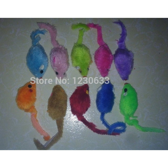 Westrice Funny Pet Cat Toys  Very Nice  Colorful Fake Fur Cat and Dog Toy Fun Mouse Free Shipping 60 3cm