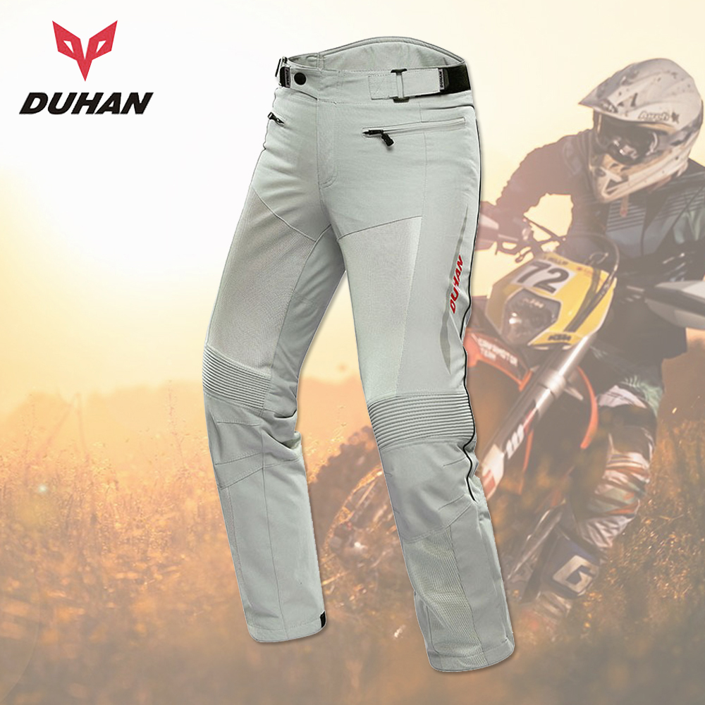 цена на DUHAN Motorcycle Pants Moto Trousers Men Racing Off-road Summer Mesh Motocross Pants Protective Gear With Pads Men's Pantalon