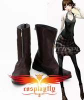 Persona 5 Queen Makoto Niijima Female Cosplay Shoes Boots For Adult Costume Adult Christmas For Cos 3267