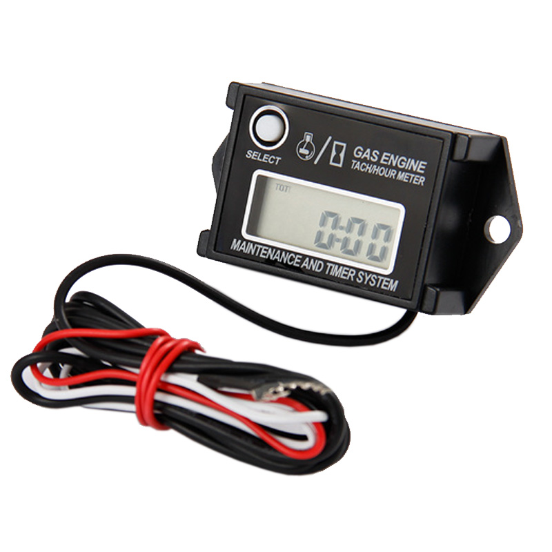 Free Shipping Digital Waterproof Tiny Tach Reset Maintenance Minder Tachometer Hour Meter