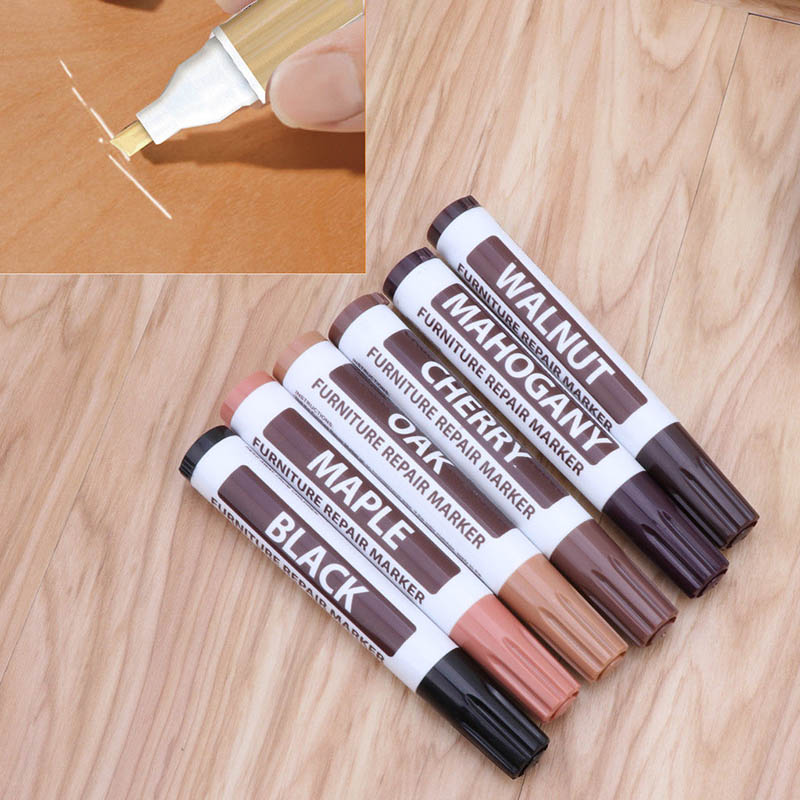 17Pcs Furniture Touch Up Kit Markers & Filler Sticks Wood Scratches Restore Kit scratch patch paint pen wood composite rep DTT88