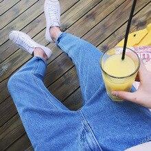 Мода, летние повседневные джинсы синего цвета для студентов, Мужские штаны-шаровары в стиле хип-хоп, Мужские штаны для подростков, S-XXL