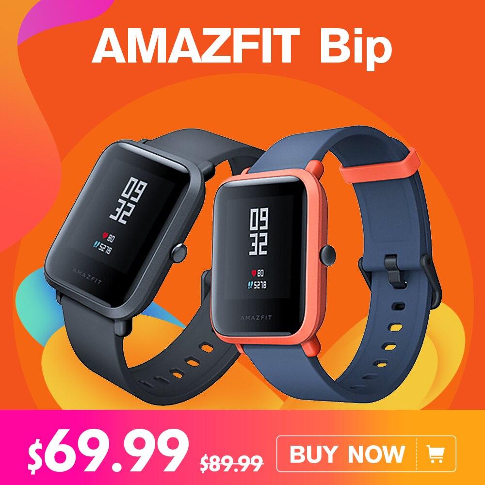 English Version Xiaomi AMAZFIT Bip Huami Sports Smart Watch GPS Gloness Smartwath Waterproof Smartwatch for Mi Fit VS Mi band 3 xiaomi mi 8 se 4g phablet english and chinese version
