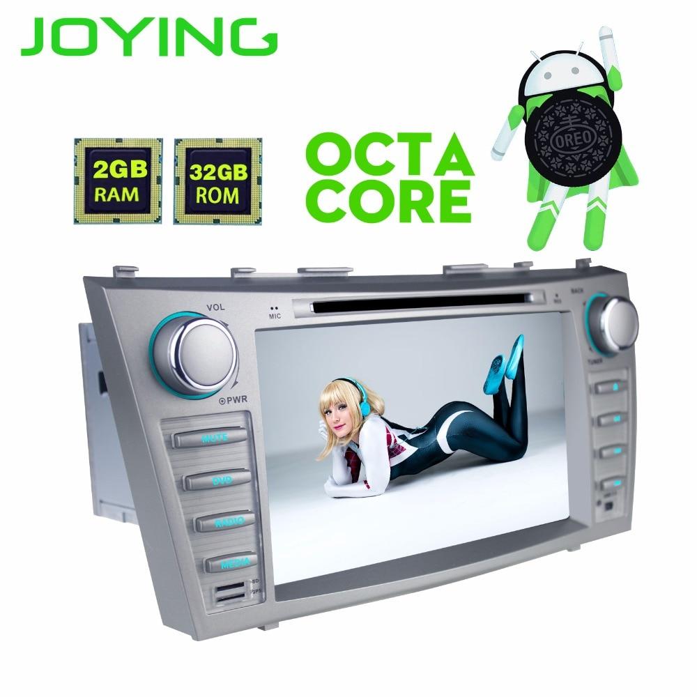 JOYING 2 DIN 8 pouce Android 8 Octa core voiture autoradio stéréo lecteur DVD pour Toyota Camry 2007-2011 GPS Magnétophone pour Aurion