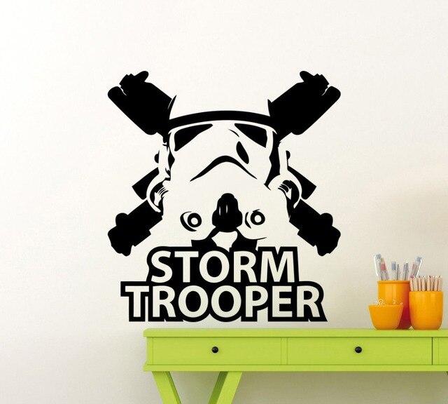 Freies Verschiffen Stormtrooper Wandbild Star Wars Superhelden Vinyl Kunst  Design Wandbild Home Dekorative Tapeten Y