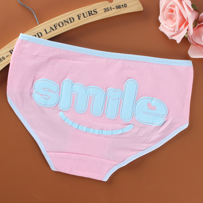 3pc/lot Cotton Young Girl Briefs For Teenage Girls Panties Candy Colors Kids Underwear Pants Underpants 9-20T