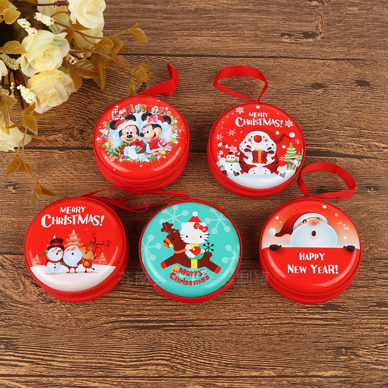 1000 PCS Candy Cute Cartoon Christmas Girls Key Case Wallet Children Headset Package Christmas Series Gift