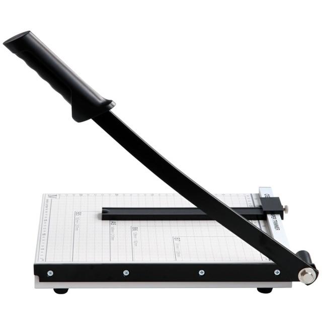 Deli 8014 manual paper cutter A4 photo paper cutter steel multifunctional manual paper cutter