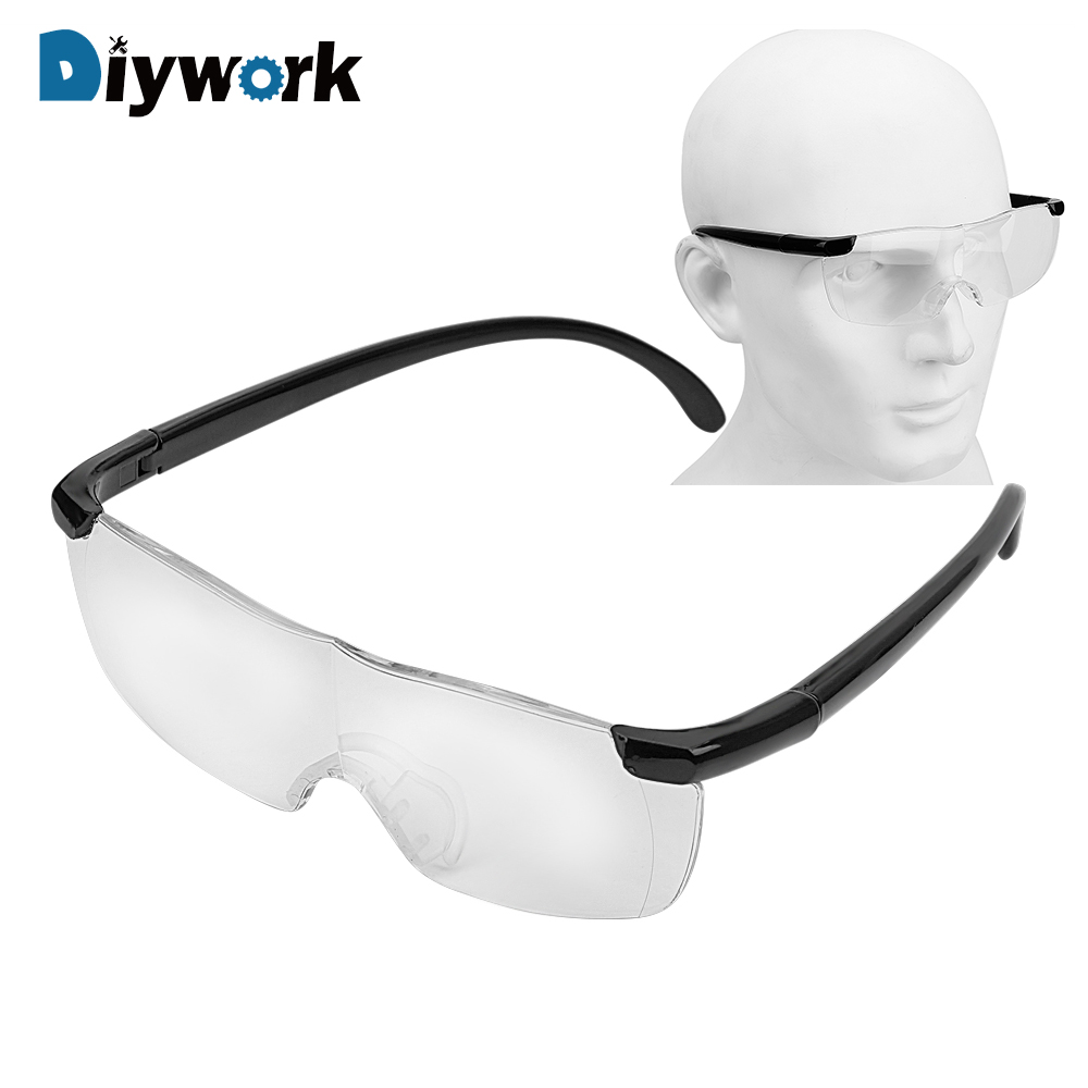 DIYWORK Magnifiers Eyewear Eye Protection 250 Degree Presbyopic Glasses 1.6 Times Magnifying Glass Working Goggles