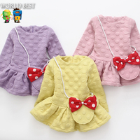 Girls Autumn Clothes Cute Toddler Girl Clothes 100 Cotton Girl Party Dress Hot Sale Pullover Sweatshirt