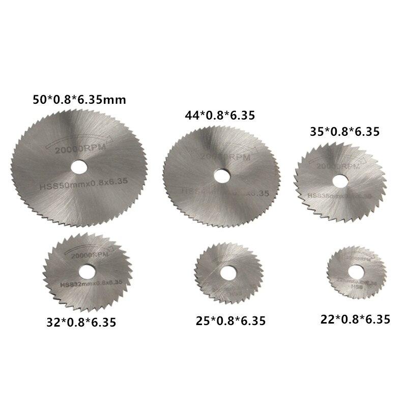 7PCS HSS Rotary Tool 22/25/32/35/44 / 50mm Hojas de sierra circular - Hojas de sierra - foto 2