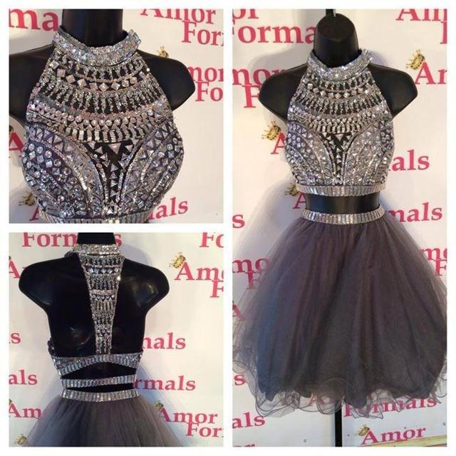 Grey Sparkly Dress