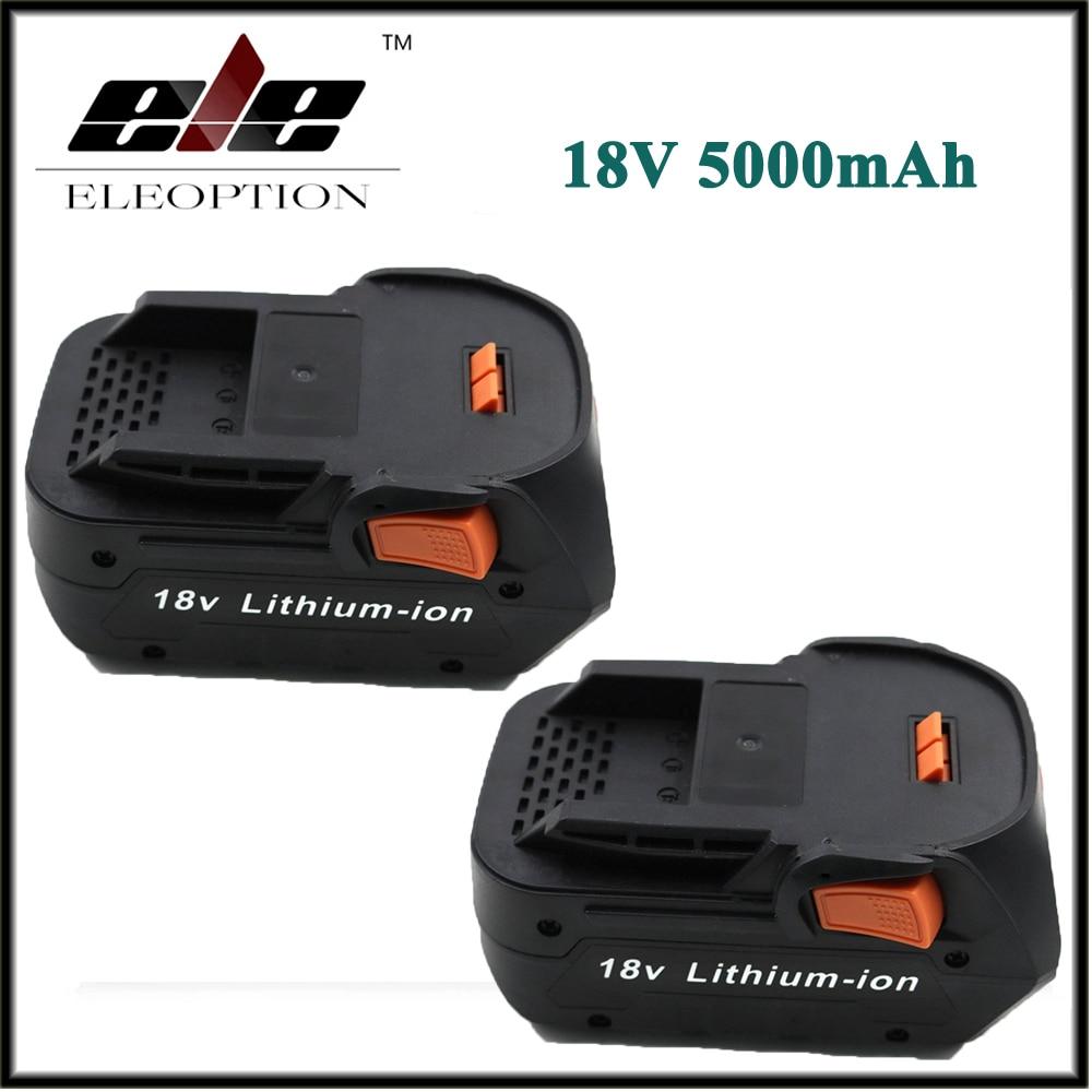 2x Eleoption Newest 18V 5000mAh Li-ion battery for RIDGID R840083 CS0921 R84008 AC840084  L1830R For AEG Series Battery2x Eleoption Newest 18V 5000mAh Li-ion battery for RIDGID R840083 CS0921 R84008 AC840084  L1830R For AEG Series Battery