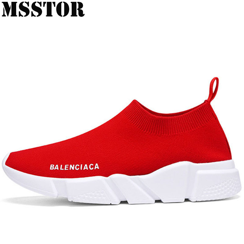 MSSTOR Summer 2018 Breathable Mesh Women Running Shoes Brand Lovers Sport Shoes For Women Outdoor Athletic Walking Men Sneakers