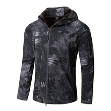 Softshell Tactical Suits Men Outdoor Sport Hiking Clothes Military Hunting Camouflage Jacket Camping Hooded Jacket or Pants