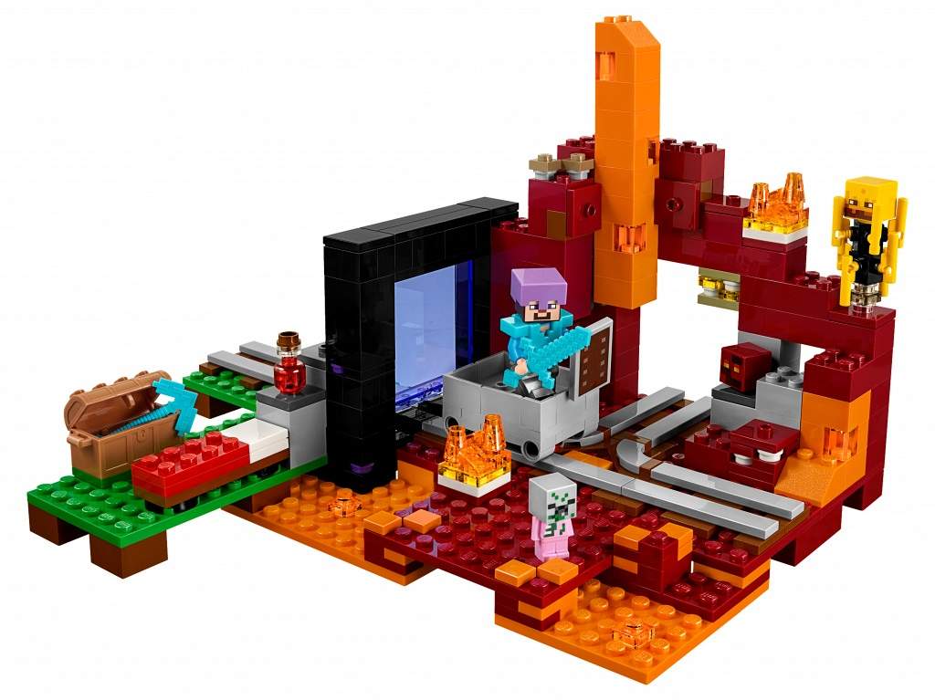 527pcs The Nether Portal Mine World Minecrafted Building Blocks Kids Toys for Children GIft Compatible Legoed Minecrafted 21143