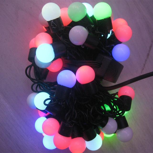 10 M 100 LED Bola de Vacaciones de Navidad luces de colores led Que Cambia con Linkable Bola Luces de la Secuencia de Navidad Navidad