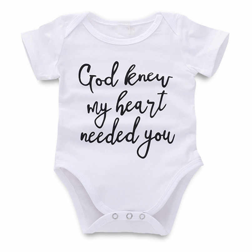 ベビーロンパース新生児衣装男児ガールズ半袖レタープリントジャンプスーツロンパース服ベビー服 # LR1