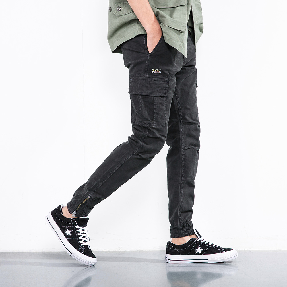 2018 New Men Cargo Pants army green big pockets decoration mens Casual trousers easy wash male autumn army pants plus size 38