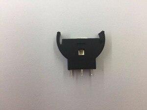 Image 5 - 100 pces novo vertical cr2032 2025 meia redonda bateria moeda botão soquete 3 pinos titular caso