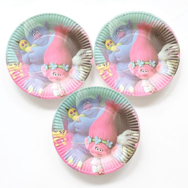 10pcs/lot Paper Trolls Kids Favor Boys Birthday Party Decorations Paper Plate 7inch Printing Round  sc 1 st  AliExpress.com & 10pcs/lot Paper Trolls Kids Favor Boys Birthday Party Decorations ...